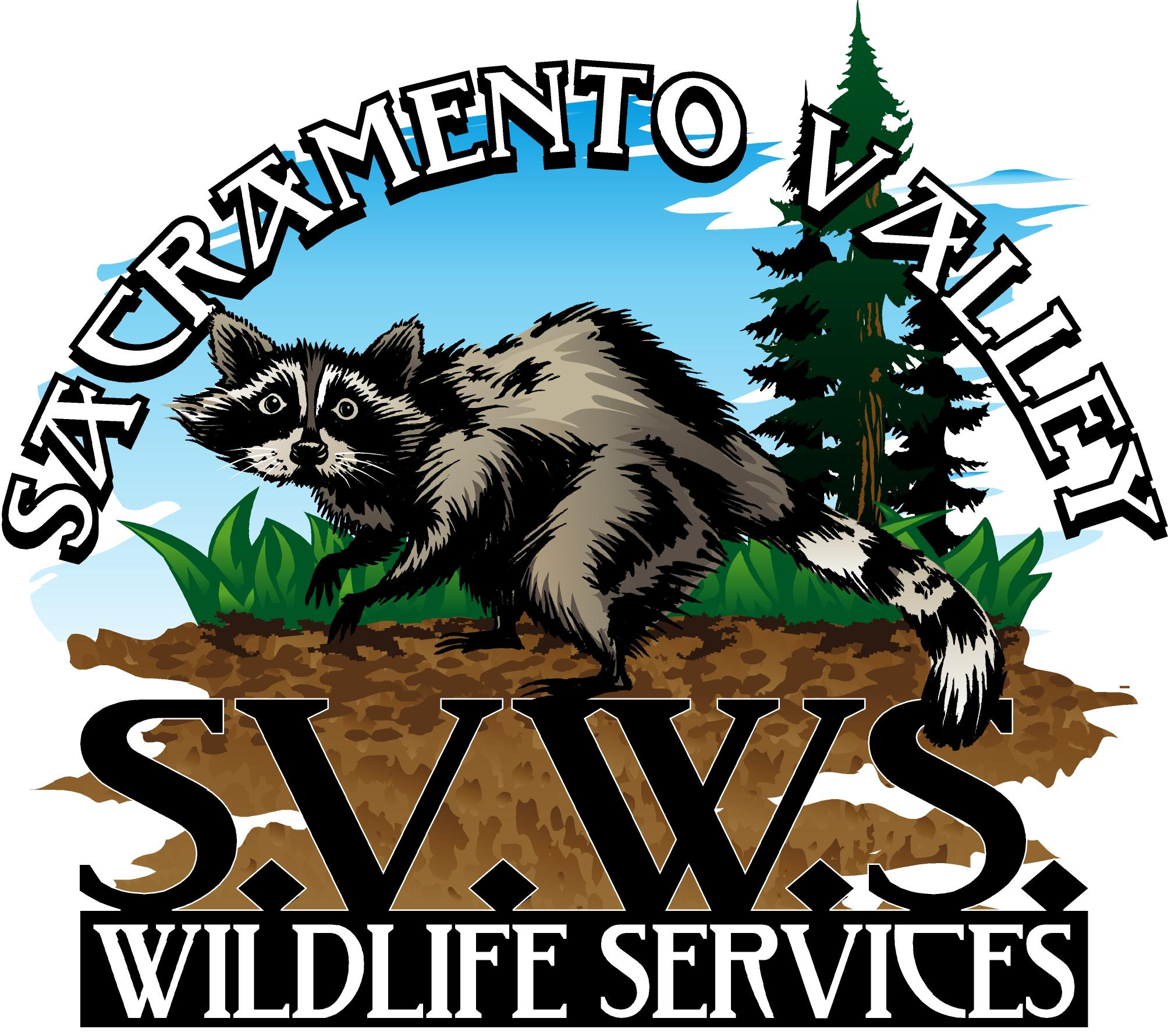 Logo for Sacramento Valley Wildlife Services such as skunk removal